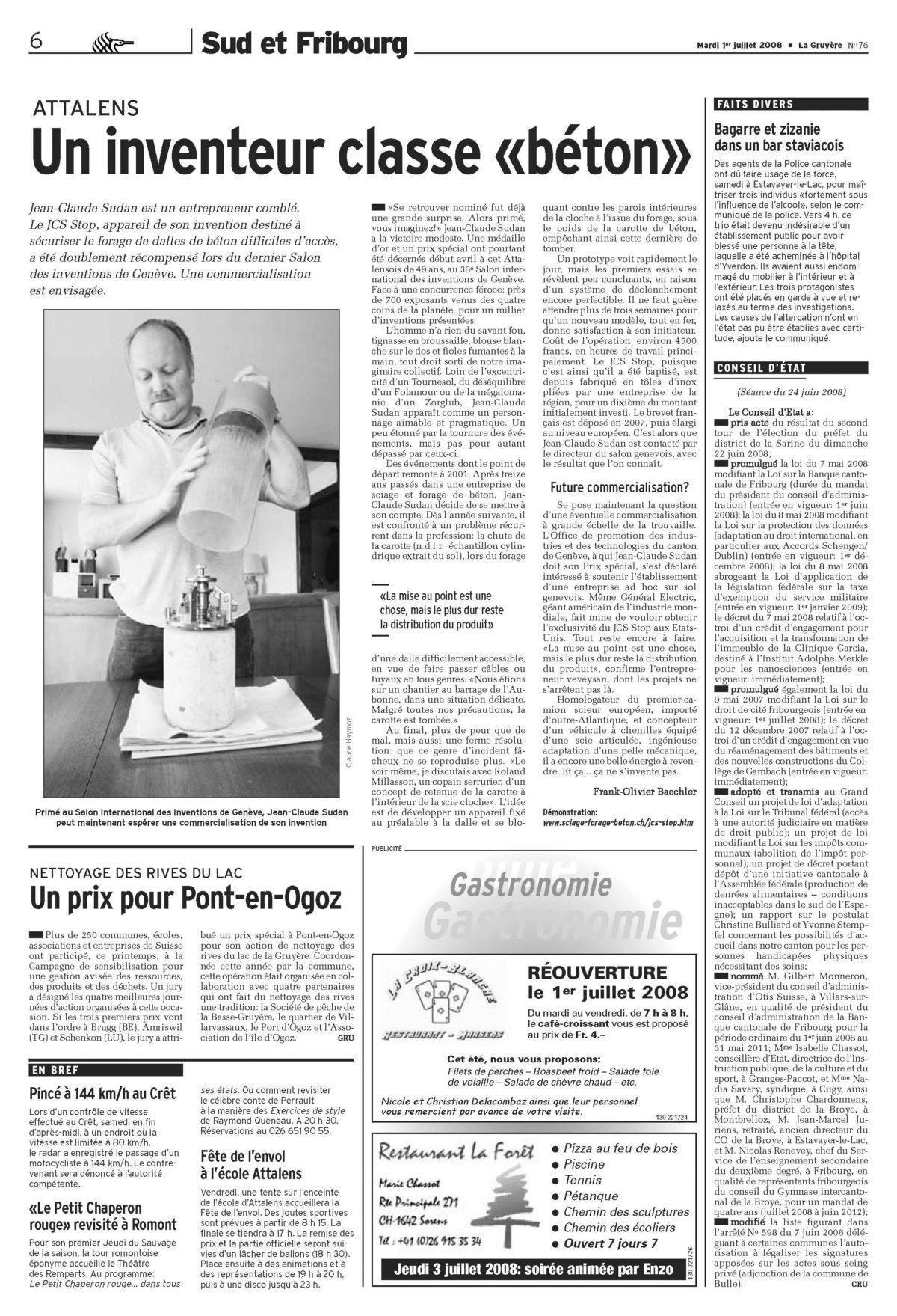 La Gruyère; Mardi 1 Juillet 2008
