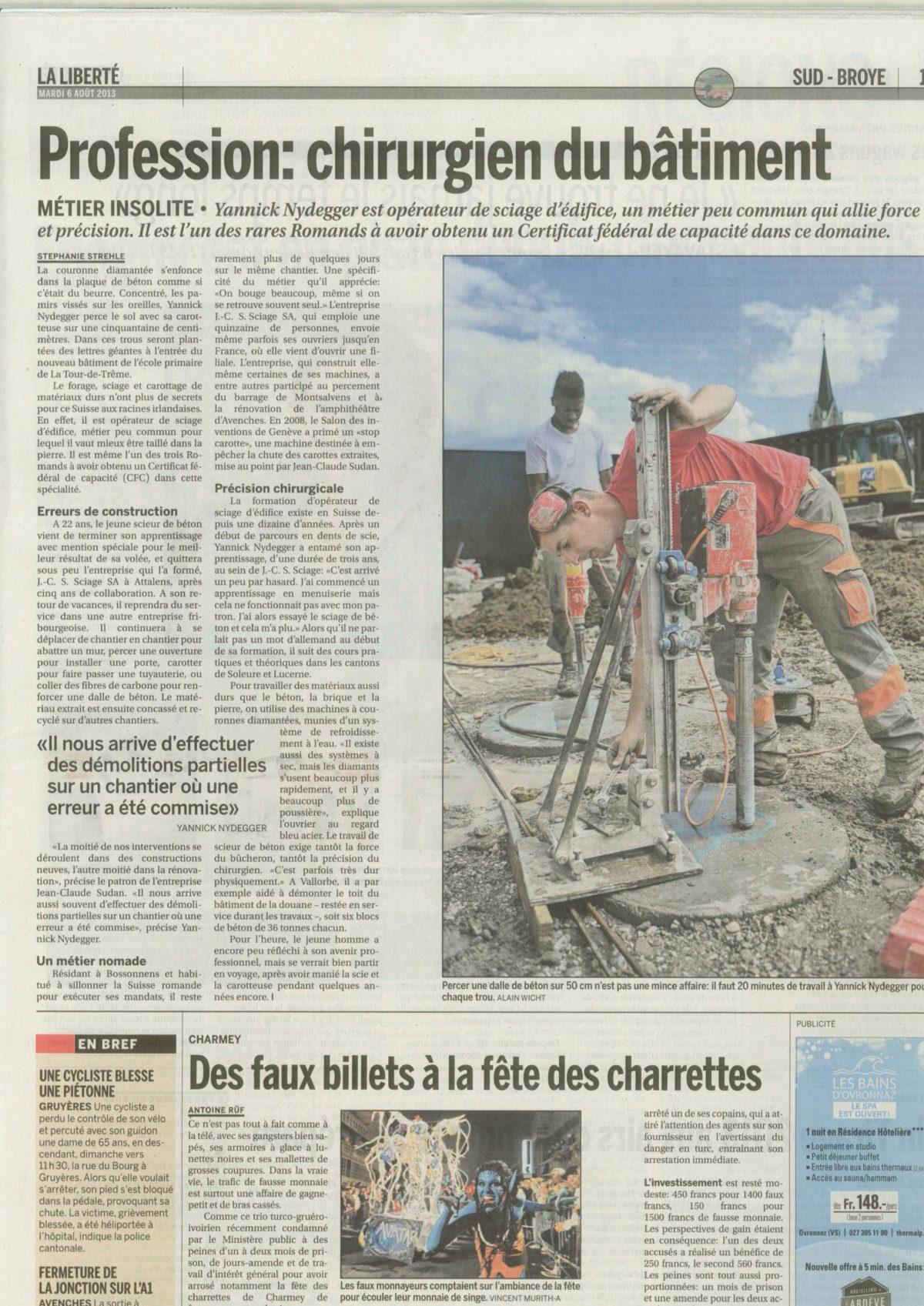 La Liberté; Mardi 6 Août 2013